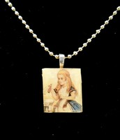Alice In Wonderland Scrabble Tile Necklace