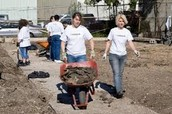 Citizens helping rebuild their city