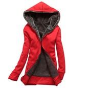 British style hood coat
