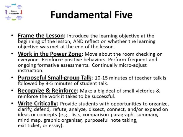 Fundamental Five - Frame the Lesson | Smore Newsletters for Education