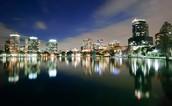Orlando at night!