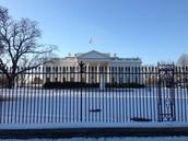 Yo visité la casa blanca, el monumento Lincoln, y el museo de historia americana.