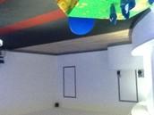 Party dance floor area / off ice training area