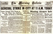 Newspaper reporting strike