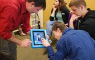 Special need students using tablets