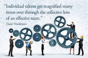 Our collective talents make us a powerful team!