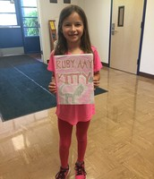 A Pillow 2nd grader came to show me the book she wrote! Our Panthers are authors!