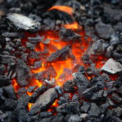 Burning coal for energy