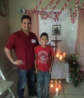 Michael Perez (Samsung) and mentee Valentin Olivares (4th grade)