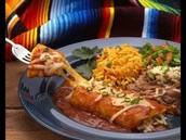 Enchilada con chico.(482 cuatrocientos ochenta y dos peso)