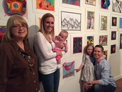 Art Show Success!  Thanks to Ms. E. Lowe!