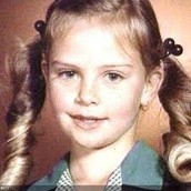 Charlize as a child