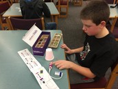 Creating a light circuit using Little Bits at Memorial School
