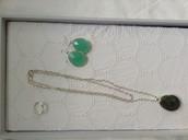 Sanibel pendant, ( SOLD!!)Serenity stone earrings, silver, odette ring