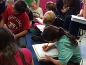 4th graders hard at work