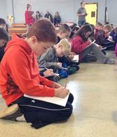 Johnson students working hard!