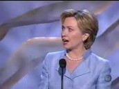 Hillary Clinton at a democratic national convention regarding her plan for foster home's