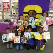 Kindergarten with their books
