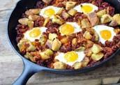 los chorizos y huevos tacos (treinta mil pesos 30.000)