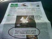 """Want a Recession-Proof Job? Think Direct Sales"""