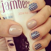 Slatted Herringbone & Barely There Lacquer