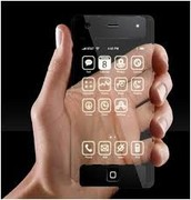 Touch invisible cellphone