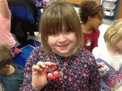 Addison and her ladybug!