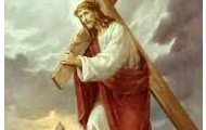 2.Pan Jezus bierze krzysz na swoje ramiona.