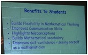 Benefits of Number Talks