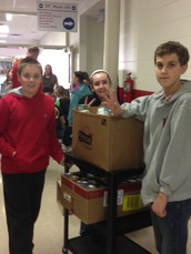 PCMS STUDENT CLUBS COLLECT FOR FOOD PANTRY
