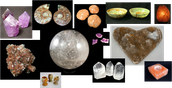 Many kind and Sizes of Crystals and Rocks.