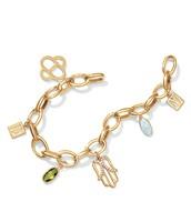 Gold Charm Bracelet Plus Charms