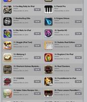 Apple iTunes App Store on an ipad