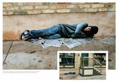Man Sleeping on Concrete