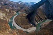 Trebbia River and Valley in the Apennines