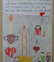 Tuana's candle picture, 4rd grade