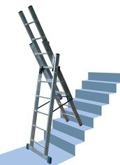 Using The Perfect Combination Ladders In Our Respective Homes