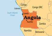 This is a map of Angola.