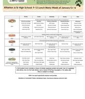 Grade 9-12 January 12-16