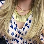 Essential Fringe Necklace, Crescent Necklace, Signature Engravable Bar Necklace