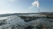 Coal Ash pond by a coal power company