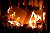 The books burning