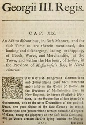 The intolerable acts 1774