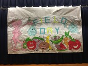Another amazing backdrop created by Mr. C for field day!
