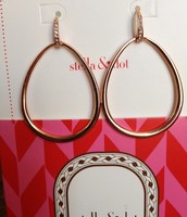 Rose Gold Goddess Teardrop Earrings