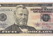 He is on the $50 bill of the U.S Currency!