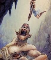Odysseus fights polyphemos