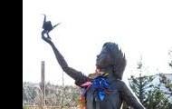 this is sadako holding a paper crane