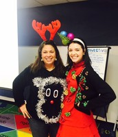 Ms. Annis and Ms. Michel Ugly Sweater Contest!
