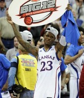 University of Kansas winning the 2013 big 12 championship